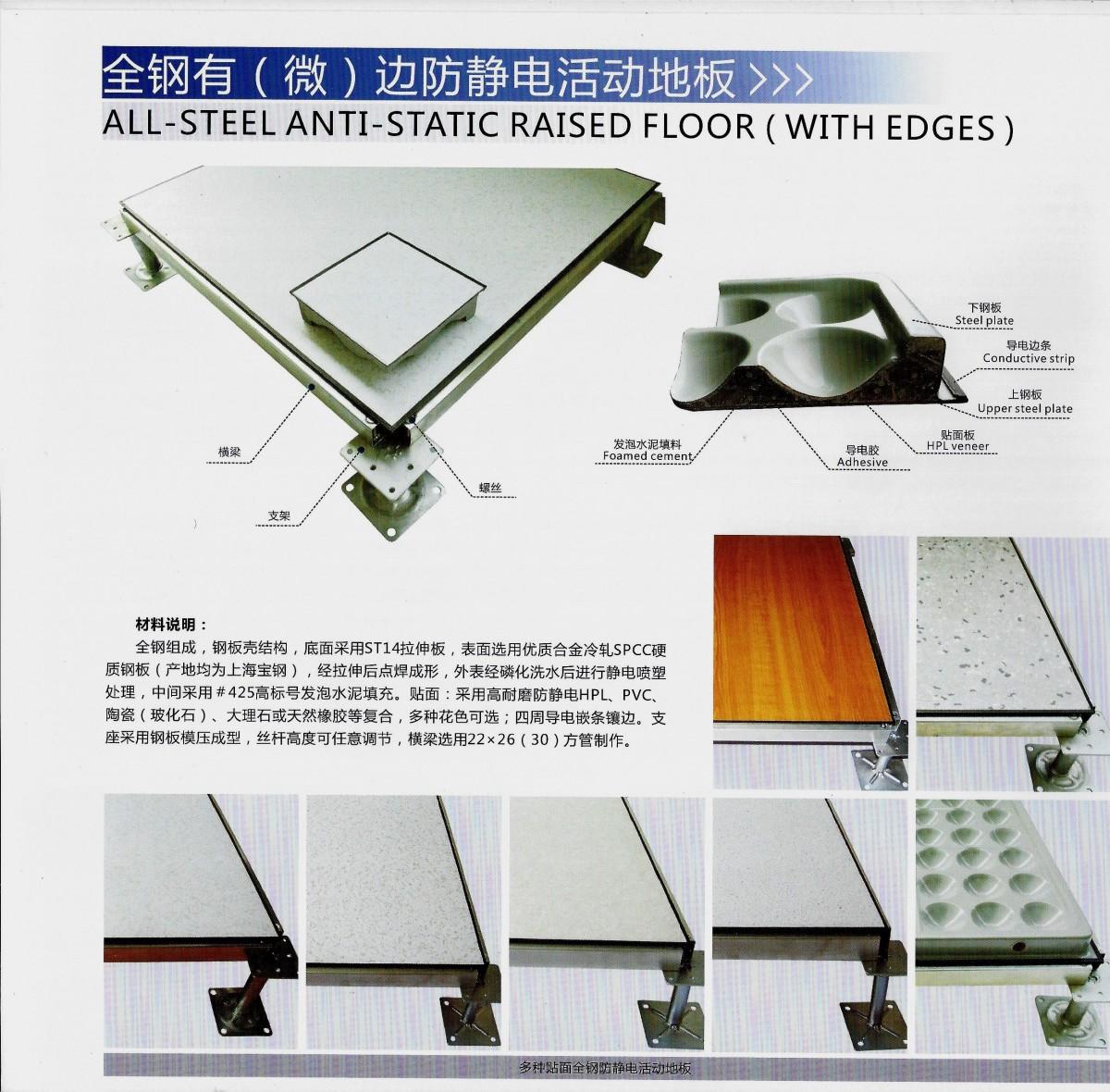全鋼有(微)邊防靜電活動地板 (1)