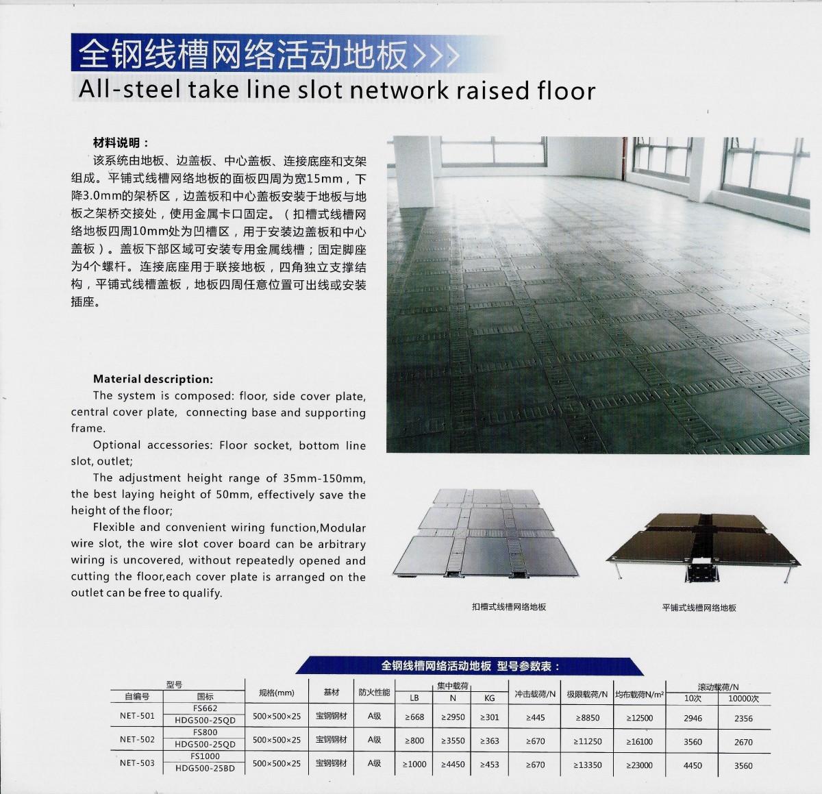 全鋼線槽網絡活動地板 (1)
