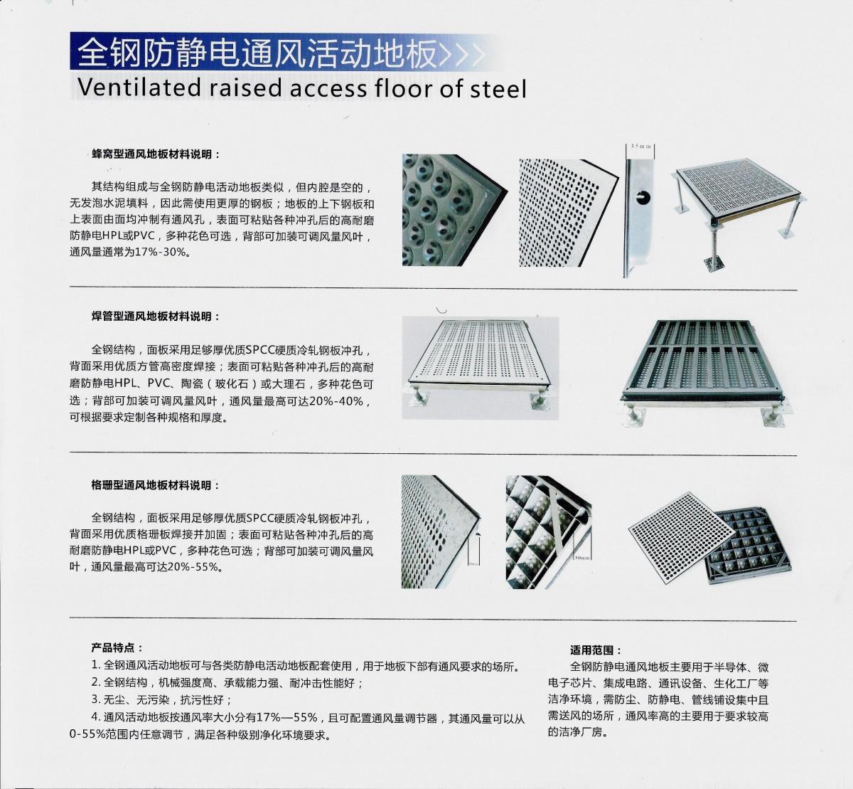 全鋼防靜電通風活動地板(1)