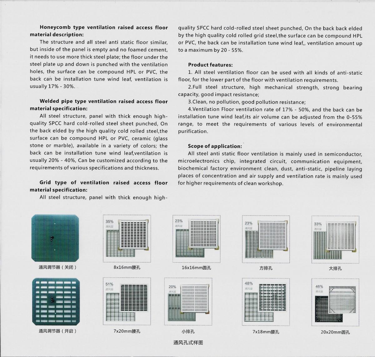 全鋼防靜電通風活動地板(2)