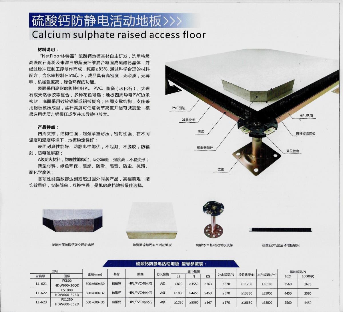 硫酸鈣防靜電活動地板(1)