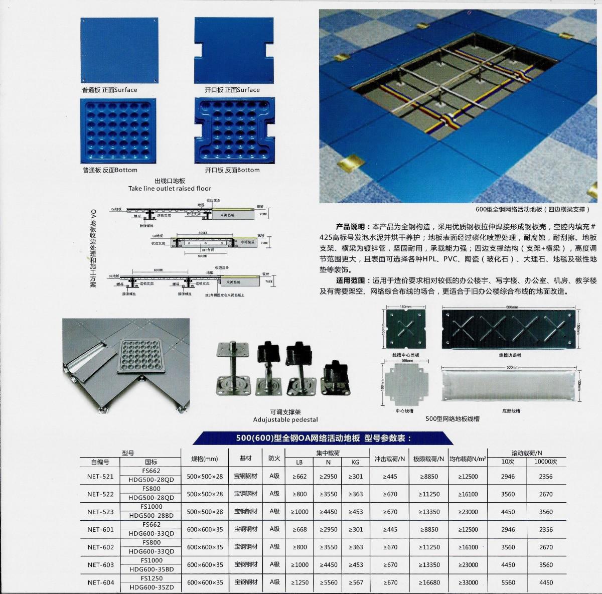 500(600)型全鋼OA網絡活動地板(2)